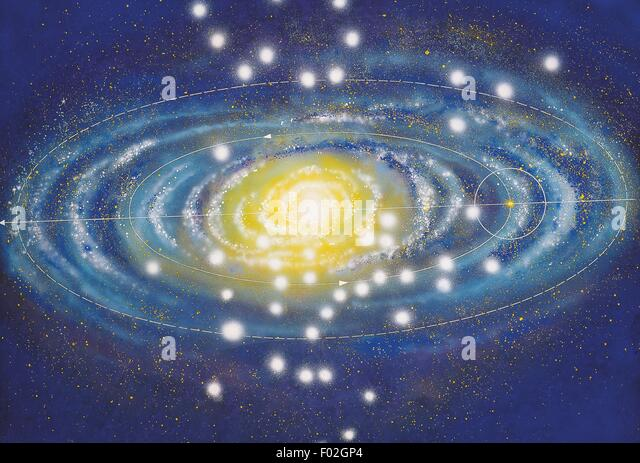 milky way solar system with graph - photo #35