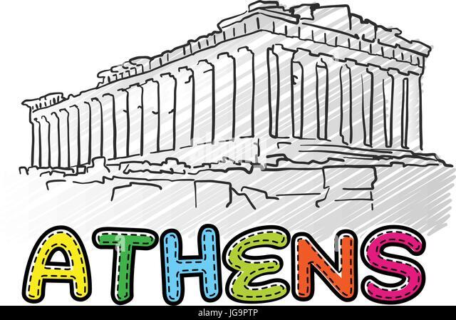 Parthenon Drawing Stock Photos Amp Parthenon Drawing Stock