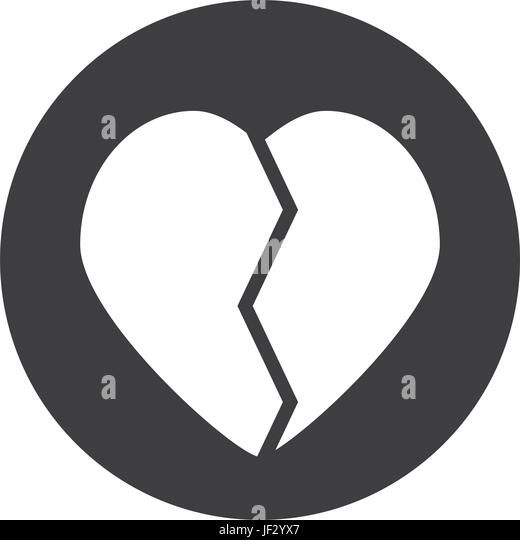 Broken Heart Symbol Stock Vector Images Alamy