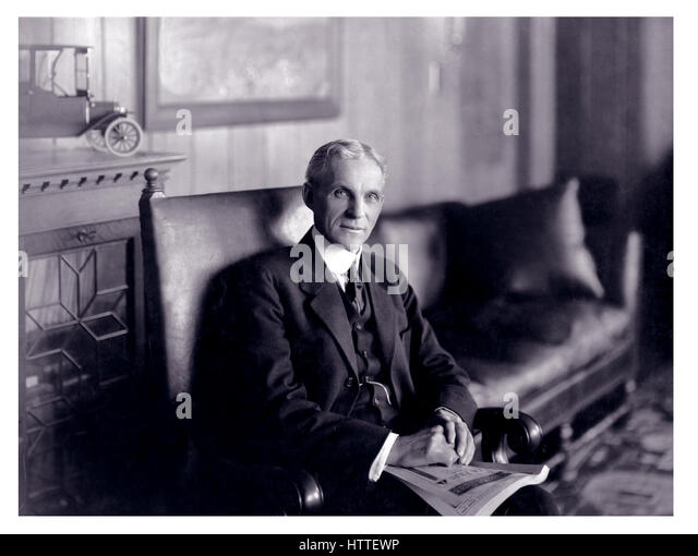 Portrait Of Henry Ford Founder And Visionary The American Motor Company Inc