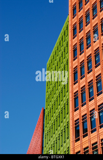 google london offices at central st giles london england stock image brightly colored offices central st