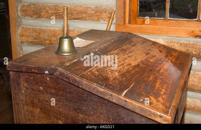 Teachers Desk Displayed inside Old Schoolhouse Museum at Andrew Jackson  State Park Lancaster South Carolina USA - Teachers Desk Stock Photos & Teachers Desk Stock Images - Alamy