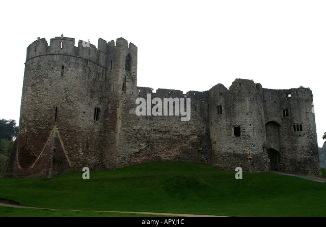 Chepstow United Kingdom  City new picture : The castle Chepstow Wales United Kingdom Great Britain Stock Image