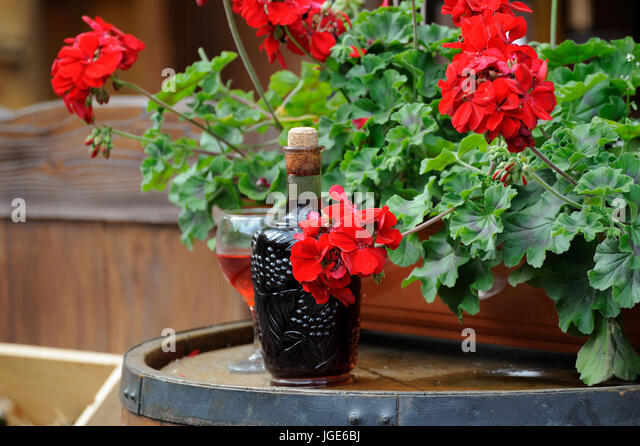 Old bordeaux wine label stock photos old bordeaux wine for Wine bottles decorated with flowers