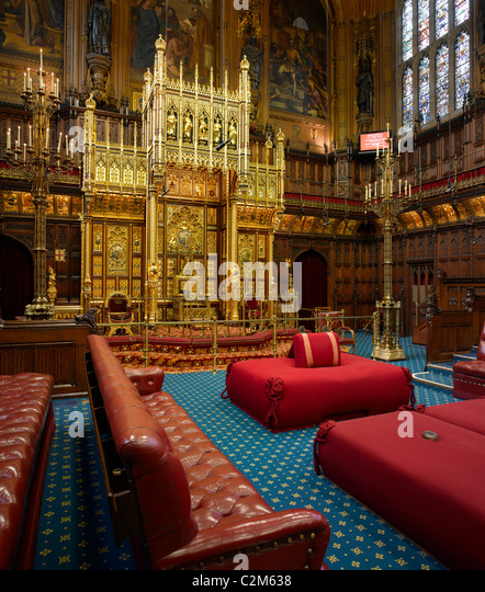 Lordu0027s Chamber, Houses Of Parliament, Westminster, London.   Stock Image Part 17