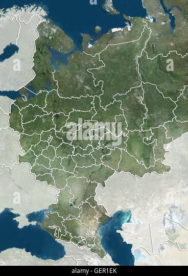 Satellite View Caucasus Image Compiled Stock Photos Satellite
