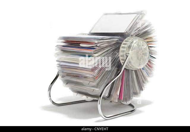 Data card stock photos data card stock images alamy a rotary business card holder stock image colourmoves