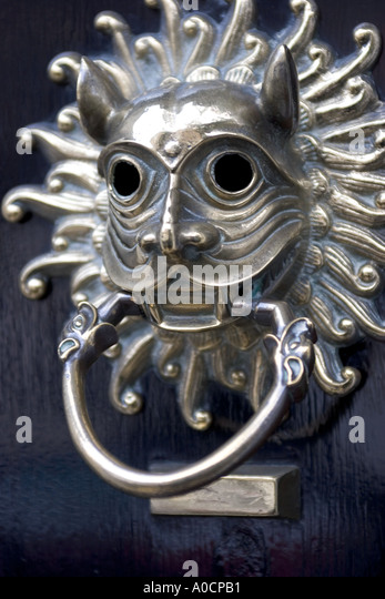 Amazing Ornate Door Knocker Bloomsbury London England UK   Stock Image