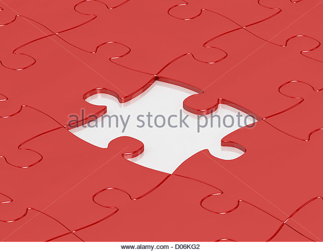 Abstract Puzzle Background One Missing Stock Photos ...
