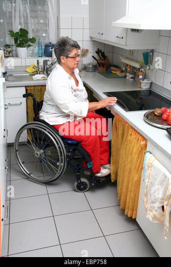Accessible kitchen stock photos accessible kitchen stock for Kitchen design for wheelchair user