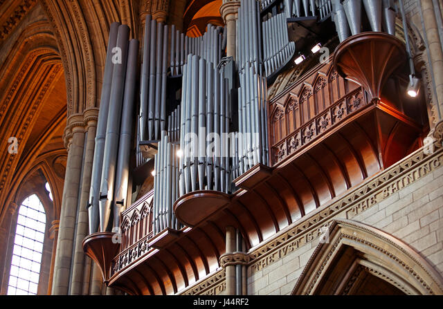 The Pipe Organ Of Truro Cathedral Cornwall UK