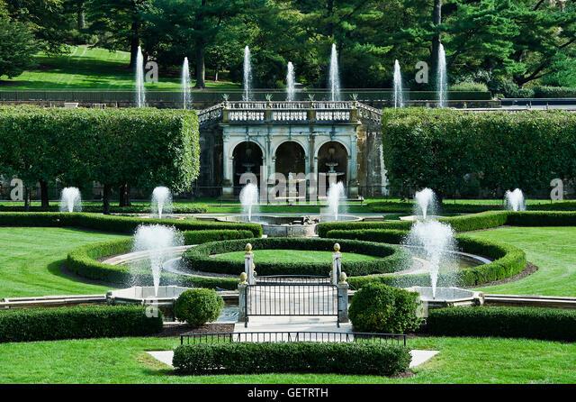 Pennsylvania Longwood Gardens Fountain Stock Photos Pennsylvania Longwood Gardens Fountain