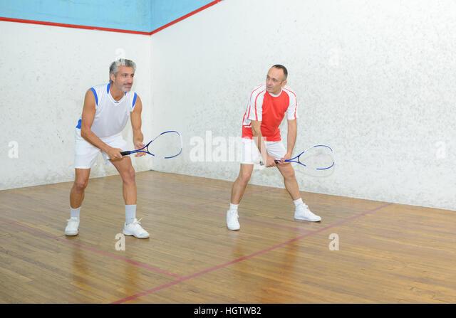 Doubles Badminton Match Stock Photos & Doubles Badminton ... Badminton Players Position