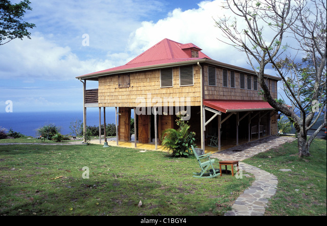 France Guadeloupe French West Indies Grande Terre Maison Creole Stock With  Maison En Guadeloupe