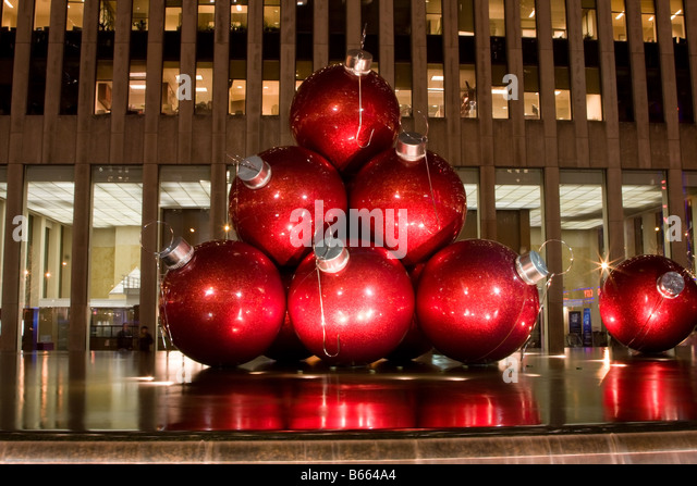 Large Red Christmas Tree Ornaments : Giant christmas ornaments stock photos