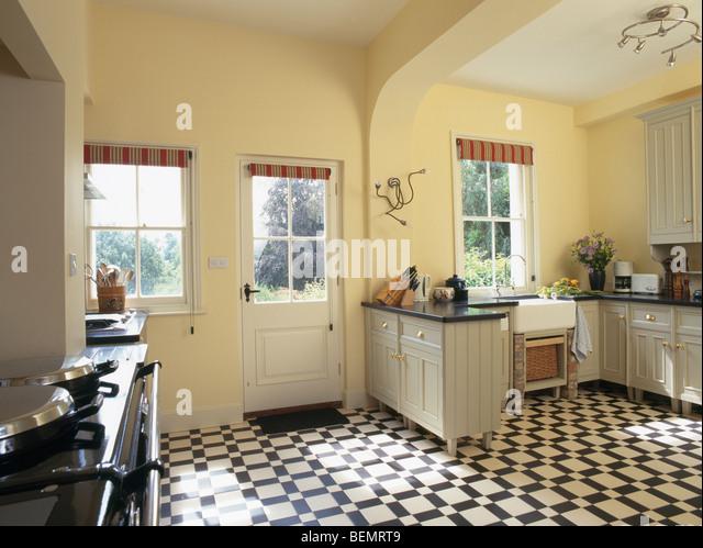 Black And White Kitchen Vinyl Flooring