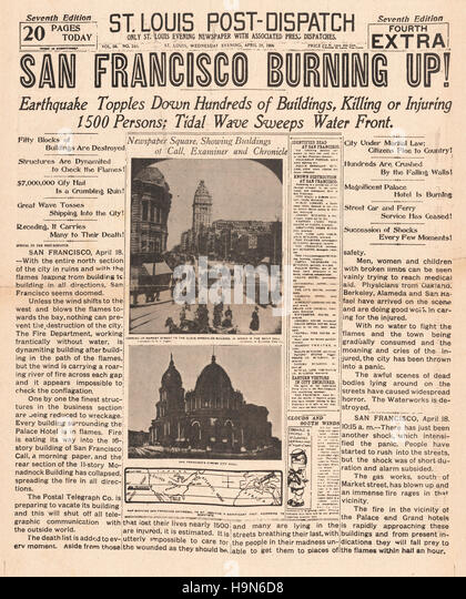 1906 earthquake reasearch paper