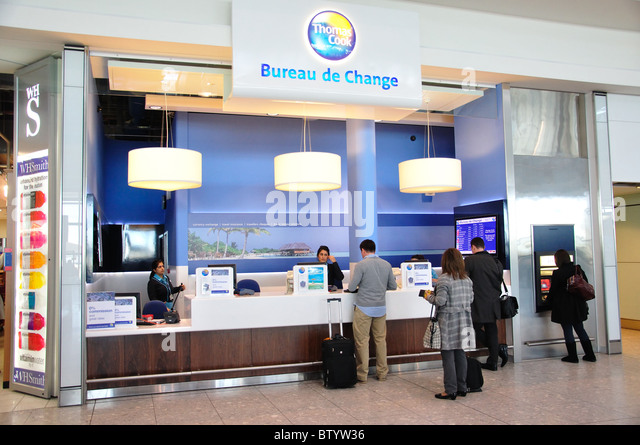 England London Bureau De Change Stock Photos England London