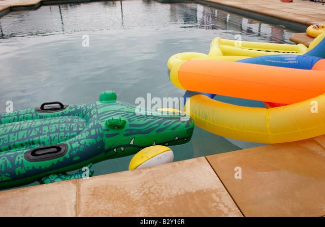 Inflatable Crocodile Swimming Pool Stock Photos
