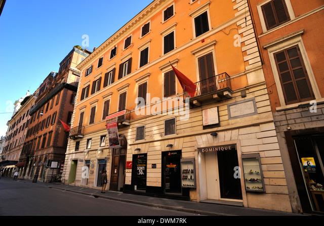 Goethe street stock photos goethe street stock images for Corner via del corso roma