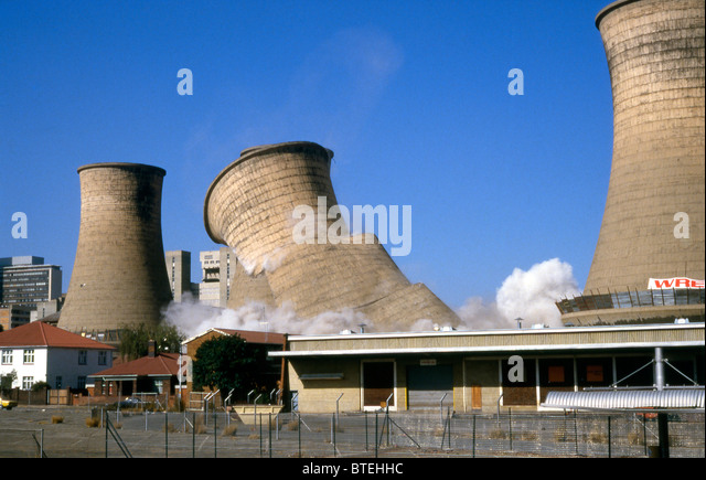 Cooling Tower Demolition : Cooling towers demolition stock photos