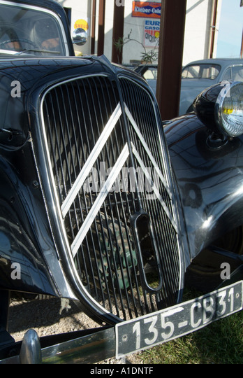 Vintage Sports Car With Chevron Grill
