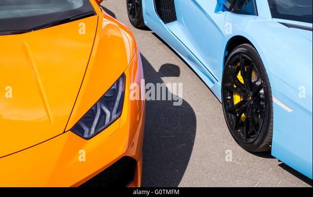 Lamborghini Cars Front End Abstract. Italian Super Car   Stock Image