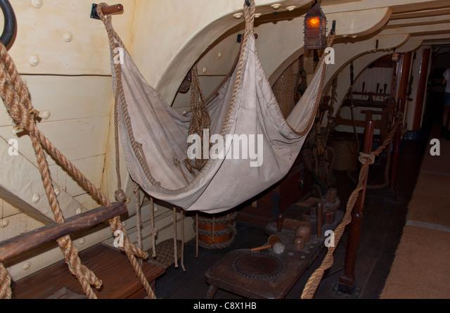 Vintage Wooden Ship Interior