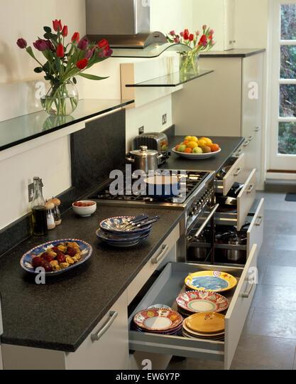 Kitchen Shelving Monochromatic Stock Photos Amp Kitchen