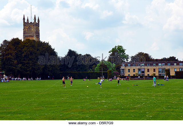 Groups Of People Relaxing And Playing Games In Home Park Cirencester Gloucestershire