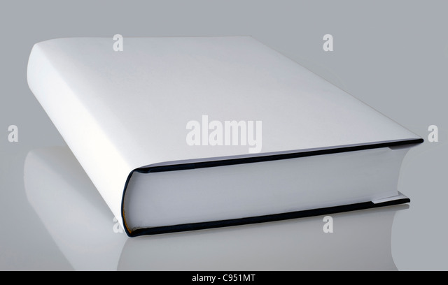Plain White Book Cover : Plain white book with hard cover stock photo picture and