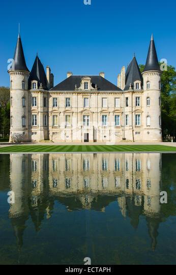 bordeaux chateau pichon longueville stock photos bordeaux