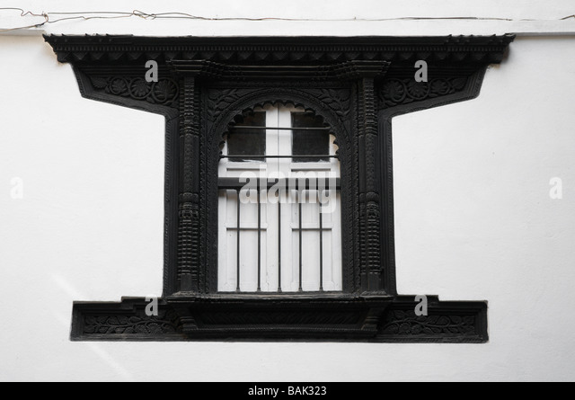 Falling shutters stock photos falling shutters stock for Window design in nepal
