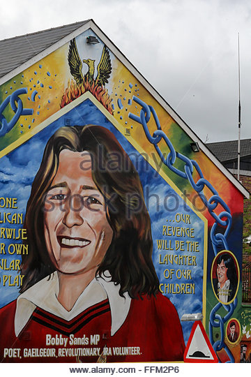Falls road stock photos falls road stock images alamy for Bobby sands mural falls road
