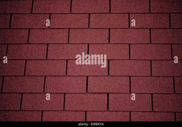 Red Asphalt Roof Shingles Texture.   Stock Image