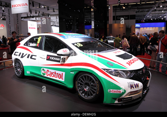 Honda Civic Racing Car At The 65th IAA In Frankfurt, Germany   Stock Image