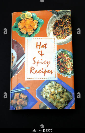 Hot and Spicy Recipes Cookery Book - Stock Image
