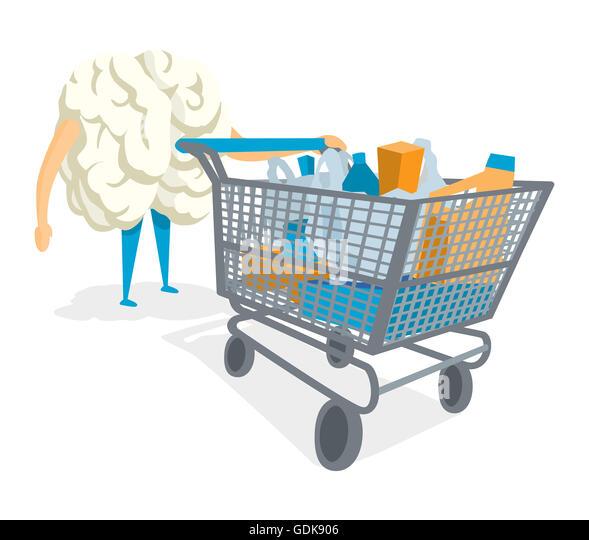 Cool shopping cart vector photos