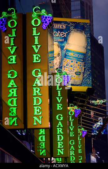 The Times Square Location Of The Olive Garden Restaurant Chain On June 5  2006 Richard B