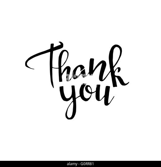 Handwritten Thank You Stock Photos Handwritten Thank You