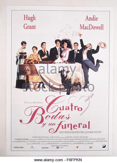 Andie macdowell four weddings funeral stock photos andie for Four weddings and a funeral director mike