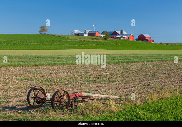 Horse drawn agriculture stock photos horse drawn Usa countryside pictures