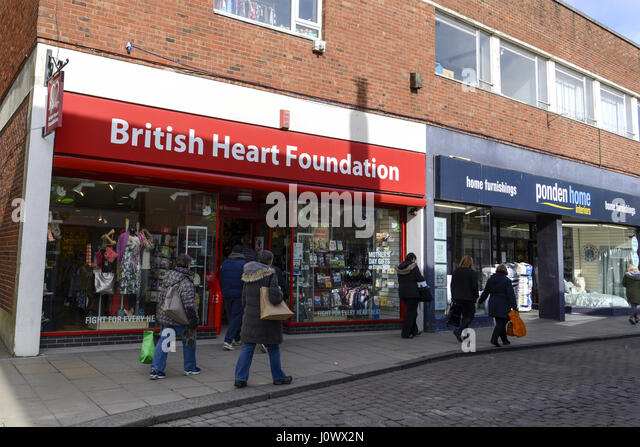Genial British Heart Foundation, Great Square, Braintree, Essex   Stock Image