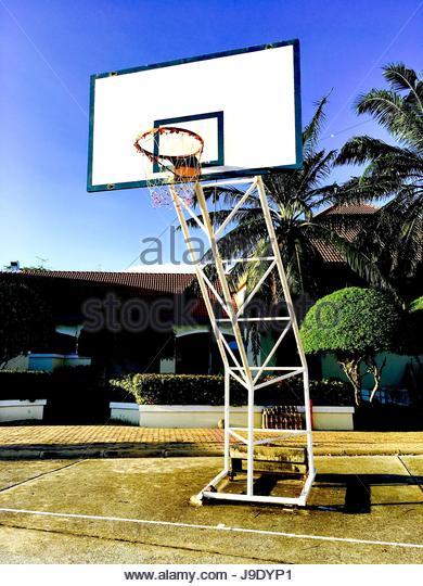 Empty Outdoor Basketball Court Basketball Stock Photos