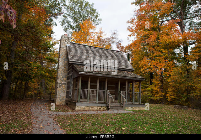 Corydon (IN) United States  City new picture : Log cabin, Battle of Corydon Park, Corydon, Indiana, United States of ...