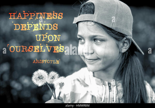 Happiness Depends On Ourselves Aristotle Quote: Ourselves Stock Photos & Ourselves Stock Images
