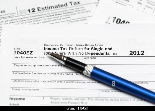 1040ez stock photos 1040ez stock images alamy for 1040ez 2012 tax table