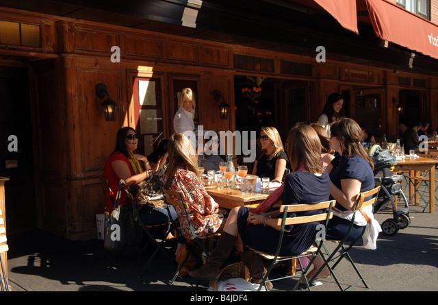 Al Fresco Dining At The Sidewalk Cafe Of Morandi Restaurant In New York In  The Greenwich