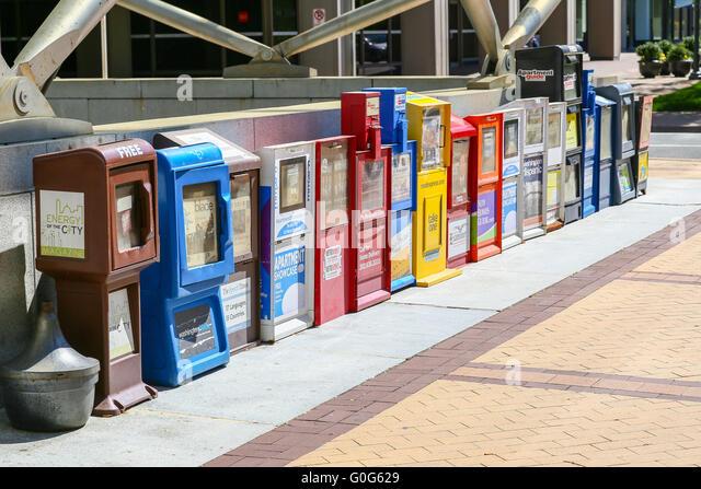 newspaper vending machine used