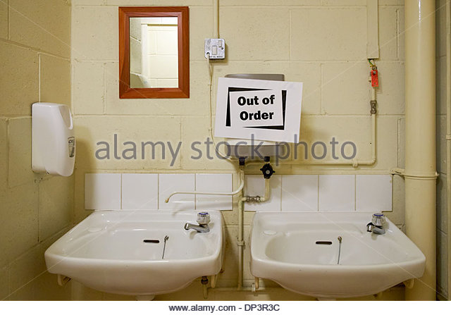 Bathroom Out Of Order out of order sign toilet stock photos & out of order sign toilet